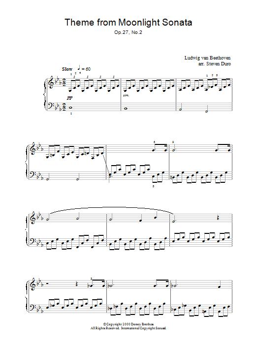Piano Sonata No 14 In C Minor quotMoonlightquot Op 27 No 2