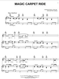 Steppenwolf - Magic Carpet Ride sheet music