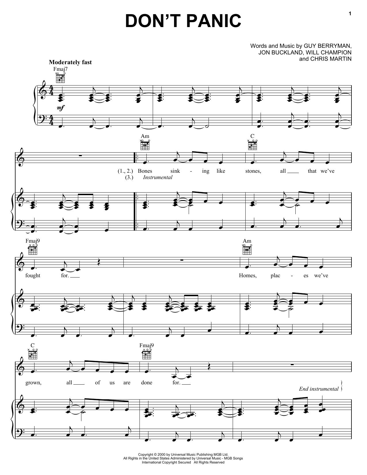 christmas light coldplay lyrics 95 jeep grand cherokee radio wiring diagram don 39t panic sheet music direct
