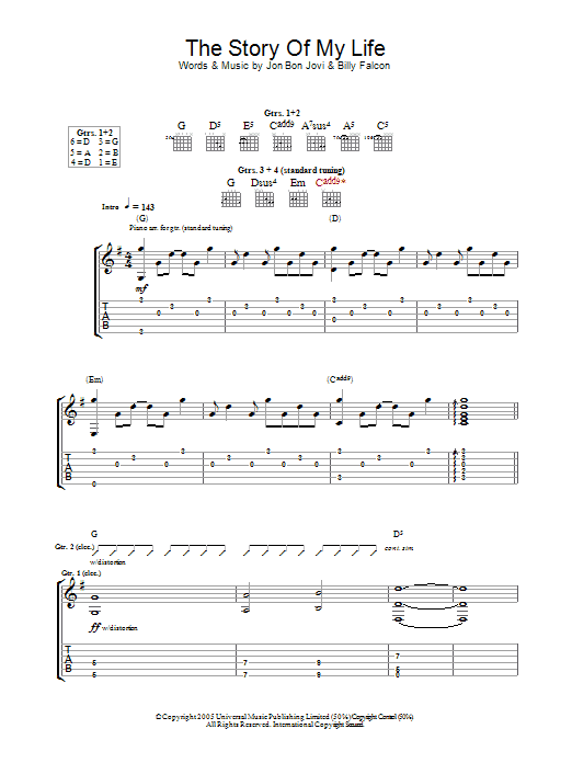 Attractive Story Of My Life Chords Piano Festooning - Guitar Ukulele ...