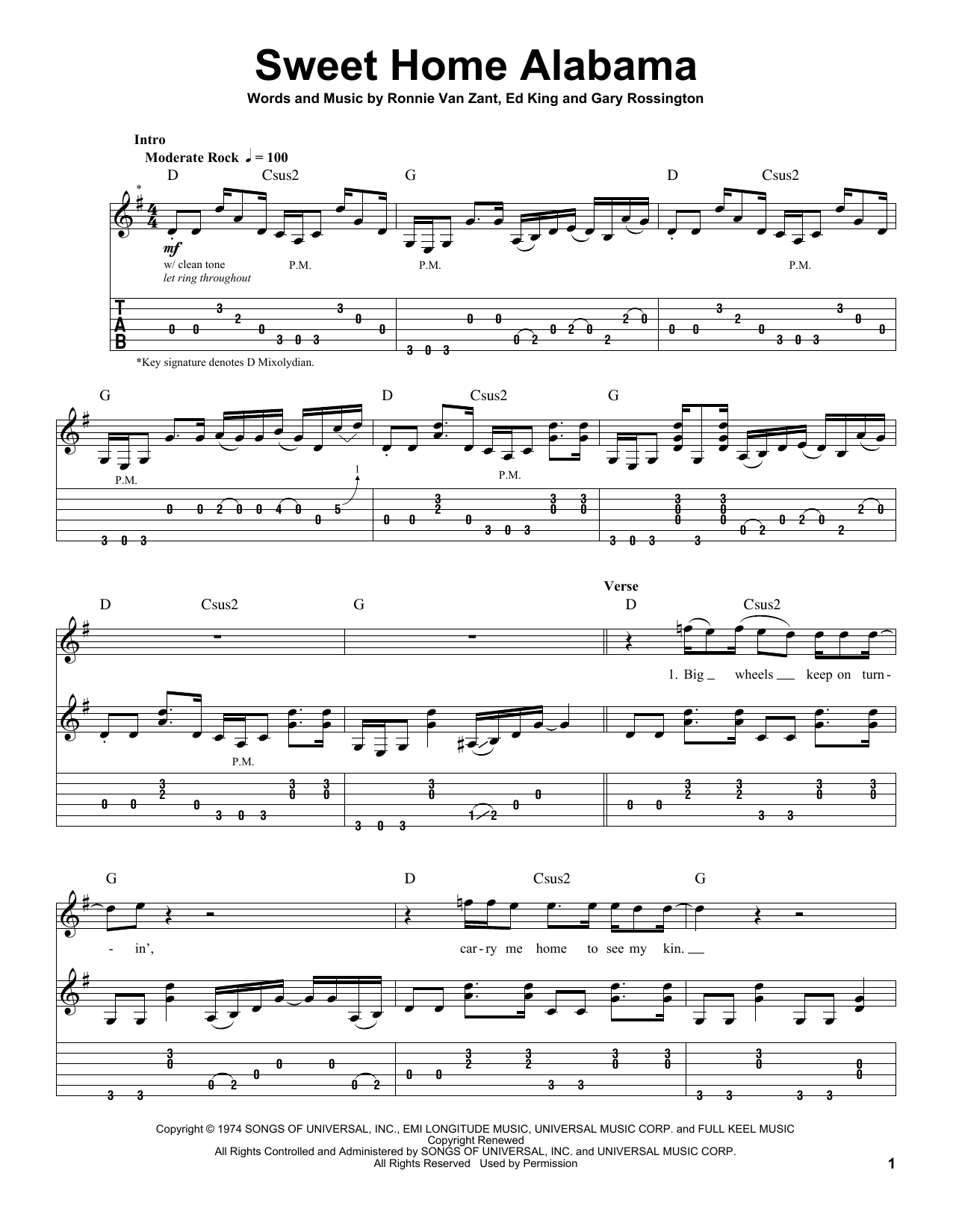 Don't ask me no questions · down south jukin' · free bird · gimme three steps · i know a little · the needle and the spoon · sweet home alabama · that smell. Sweet Home Alabama By Lynyrd Skynyrd Guitar Tab Play Along Guitar Instructor