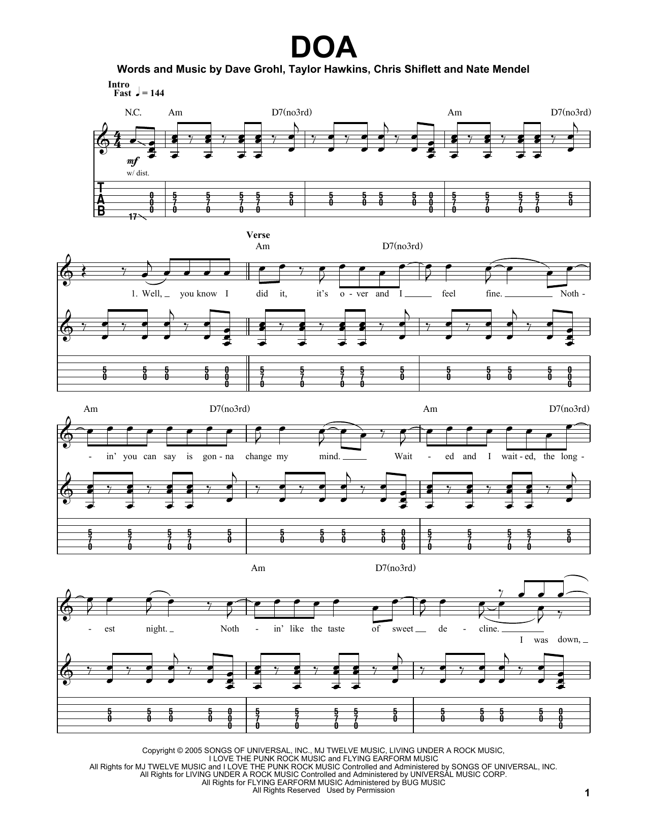 Attractive Everlong Guitar Chords Mold Beginner Guitar Piano
