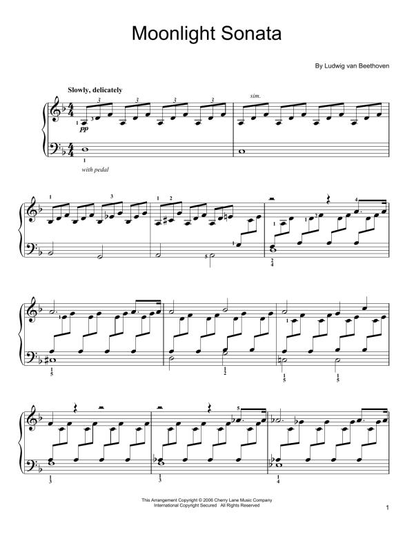 Moonlight Sonata Sheet Music Direct