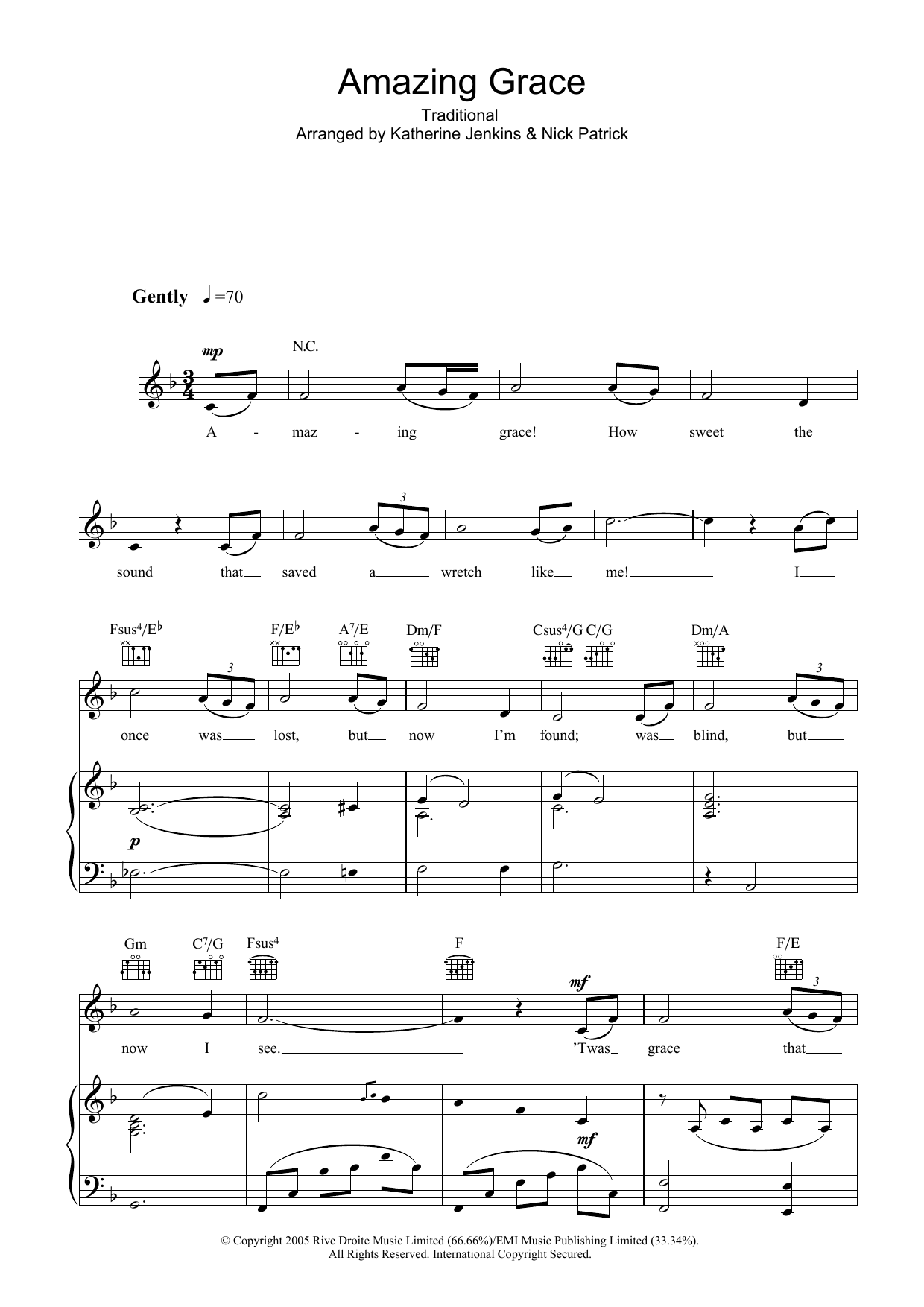 Amazing Solo Music Tenor Sheet Sax Grace