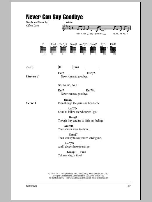 Chord Goodbye : chord, goodbye, Never, Goodbye, Jackson, Guitar, Chords/Lyrics, Instructor
