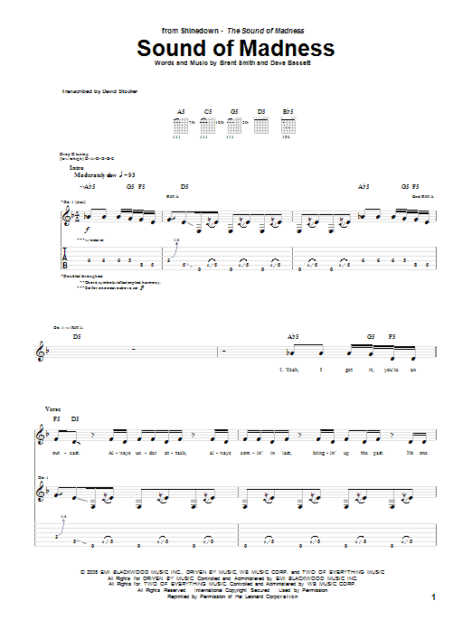 Shinedown Simple Man Chords