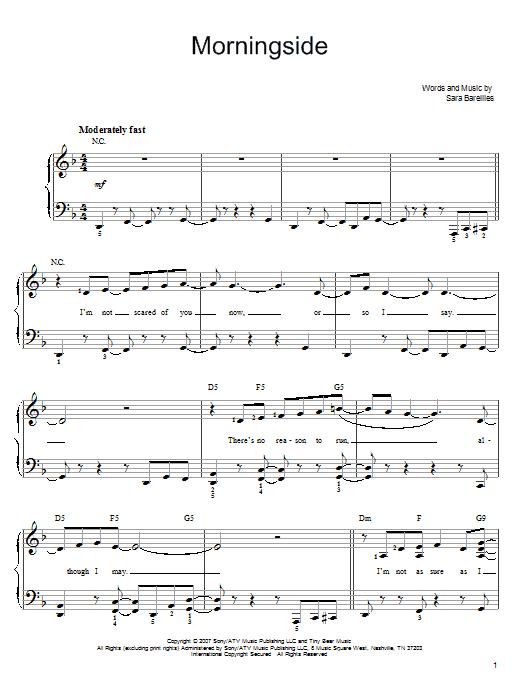 Sara Bareilles Gravity Piano Chords