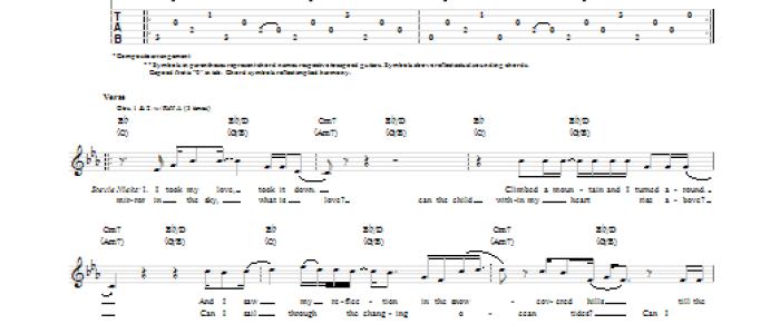 Landslide Chords Guitar Tab Your Chords Fleetwood Mac Fleetwood Mac