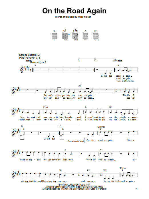 Enchanting Willie Nelson Guitar Chords Image - Beginner Guitar Piano ...