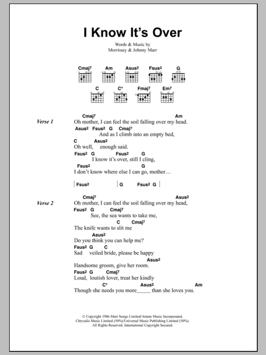 I Know It's Over by The Smiths - Guitar Chords/Lyrics - Guitar Instructor