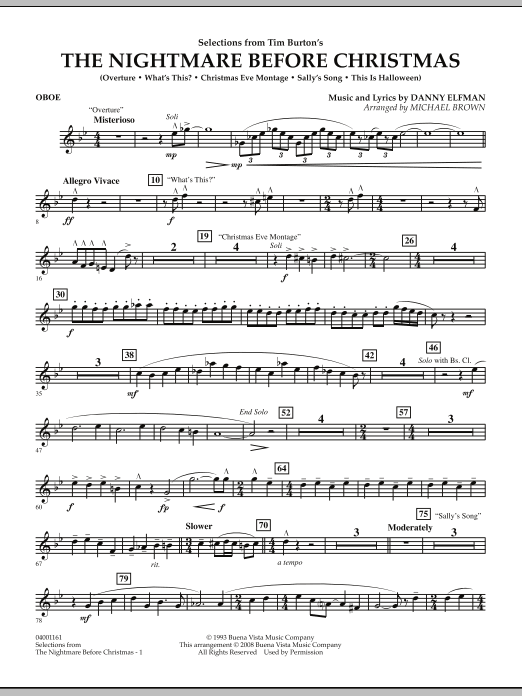 selections from the nightmare before christmas bb trumpet 1 by - Danny Elfman Nightmare Before Christmas Overture