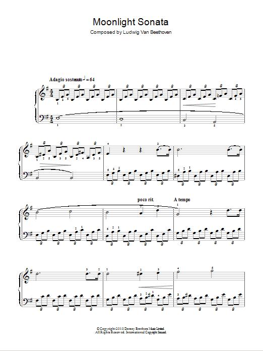 Moonlight Sonata Mondscheinsonate First Movement Op27