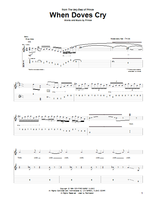 Modern Purple Rain Guitar Chords Pattern - Beginner Guitar Piano ...