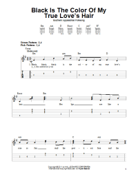Black Is the Color of My True Love's Hair | Sheet Music Direct