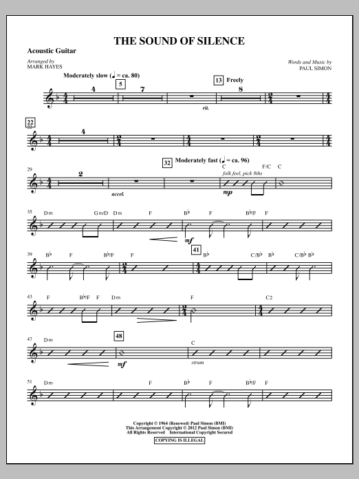 The Sound Of Silence - Acoustic Guitar | Sheet Music Direct
