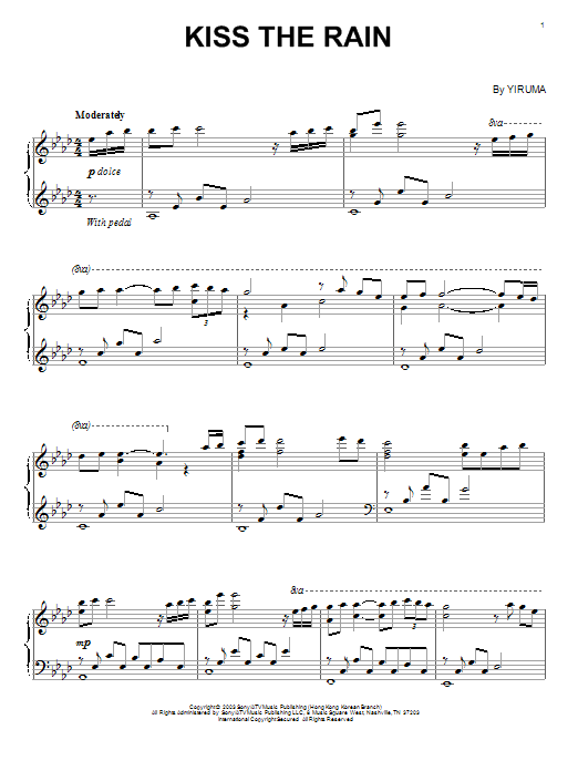 Yiruma Falling Love Sheet Music