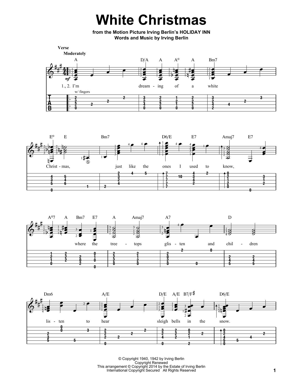 White Christmas Easy Guitar Chords Christmaswalls