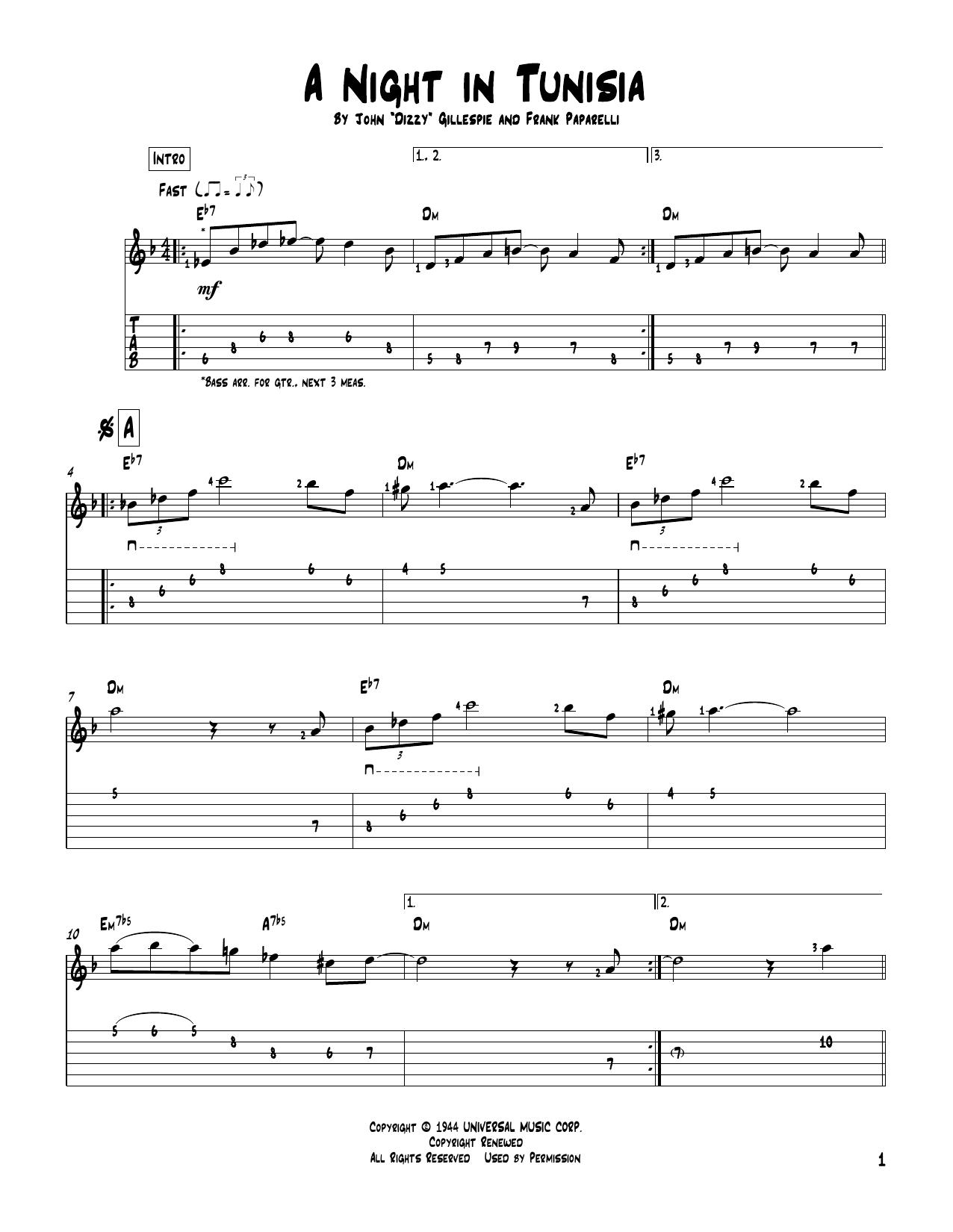A Night in Tunisia - Learn Jazz Standards
