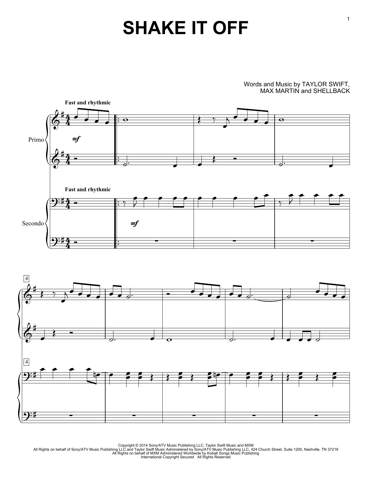 Taylor Swift Mean Chords For Guitar Sheet Music
