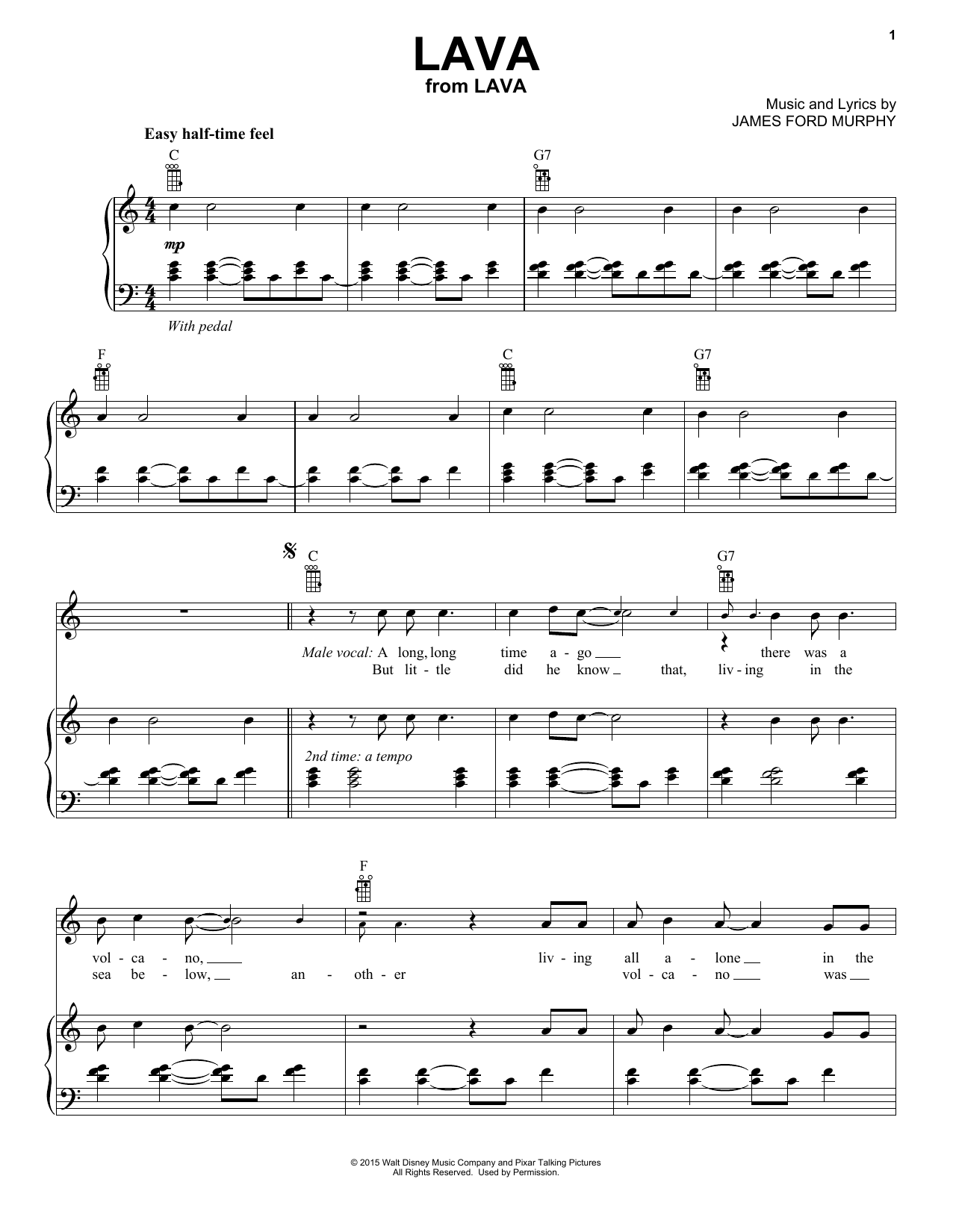 Lava Sheet Music By James Ford Murphy (piano, Vocal