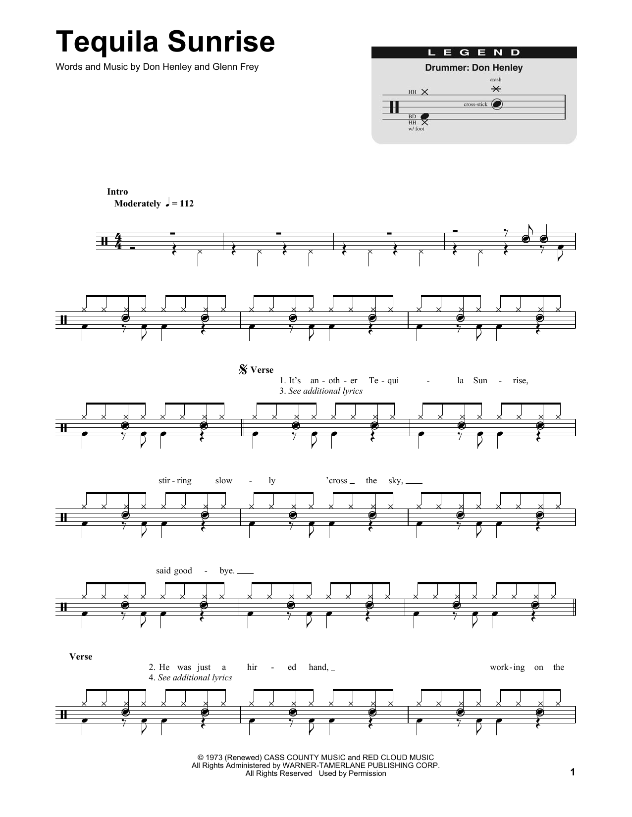 tequila sunrise chords