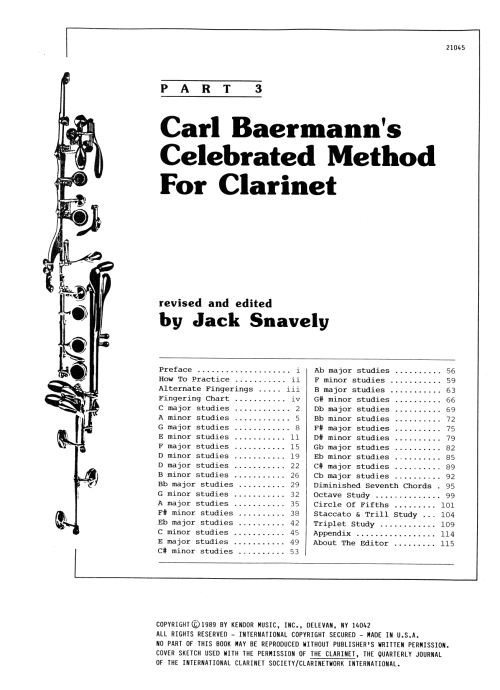 small resolution of carl baermann s celebrated method for clarinet part 3 at stanton s sheet music