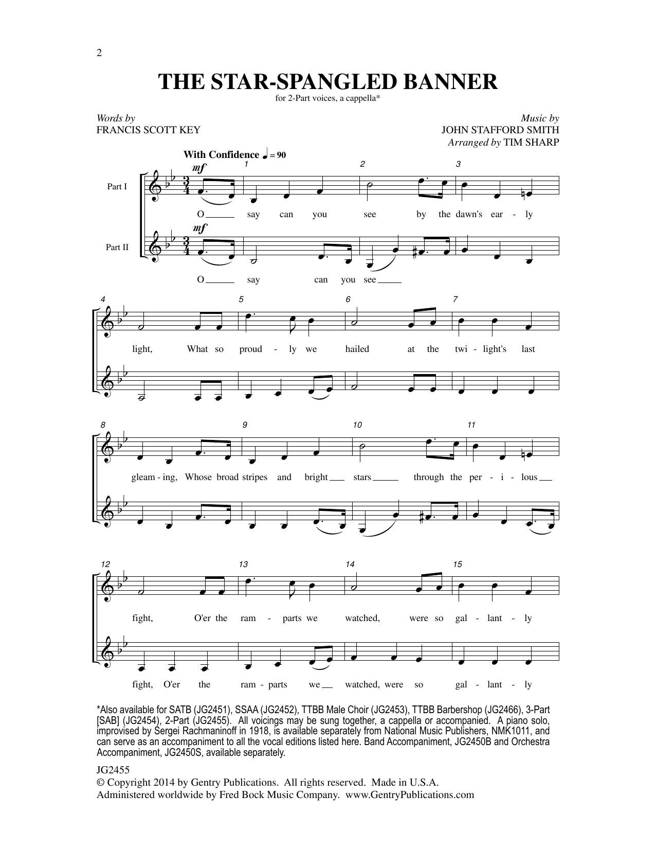 The Star Spangled Banner At Stanton S Sheet Music