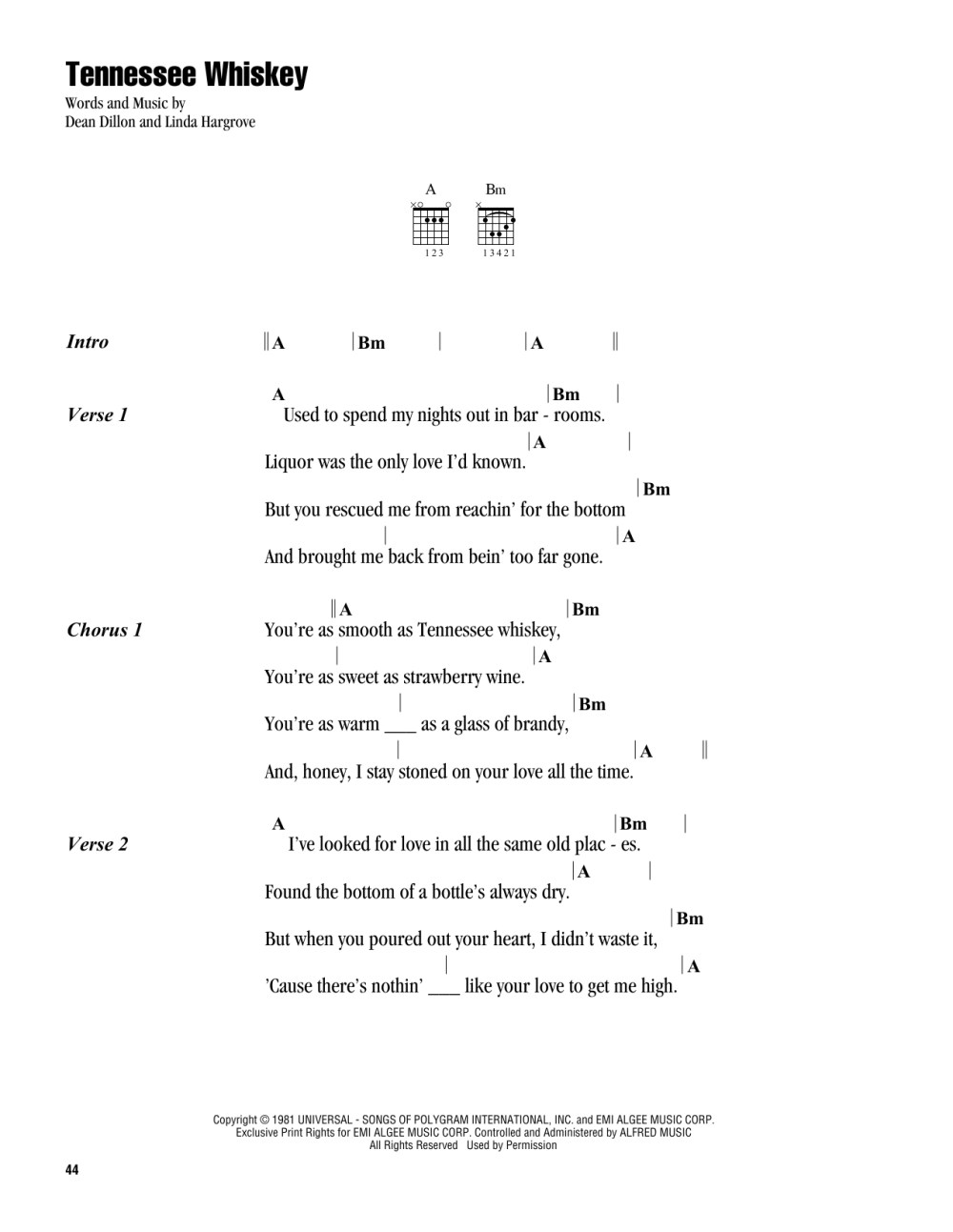 medium resolution of  smooth as tennessee whiskey sheet music