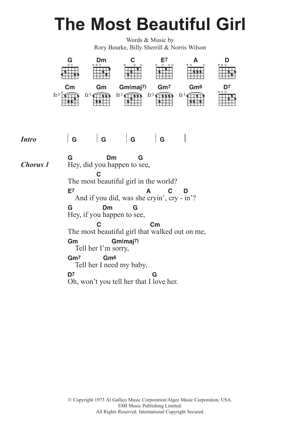 Beautiful Girl Chord : beautiful, chord, Beautiful, Charlie, Guitar, Chords/Lyrics, Instructor