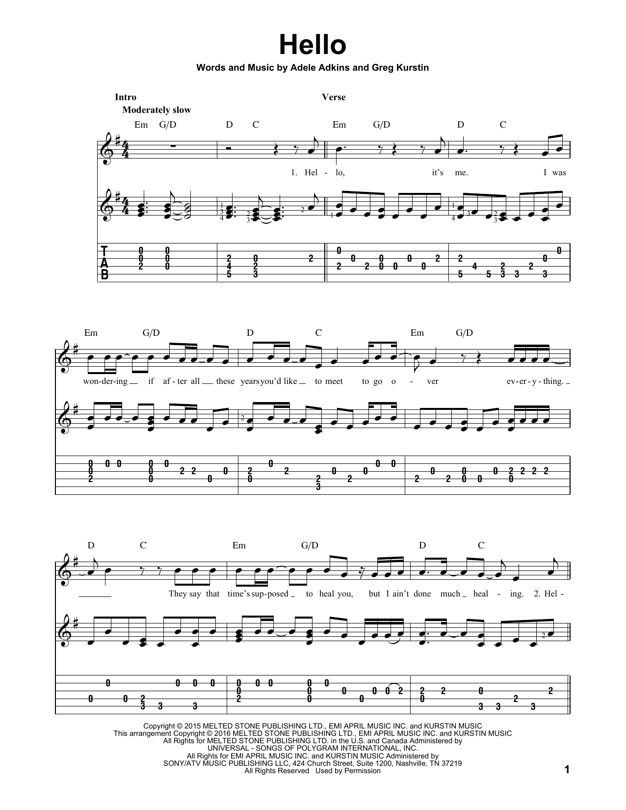 Chords For Skyfall By Adele