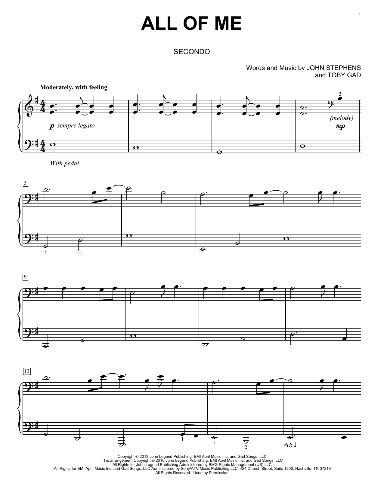Chart Hits For Easy Duet