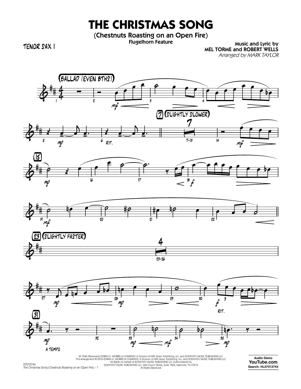 Nightmare Before Christmas Sheet Music Tenor Saxophone