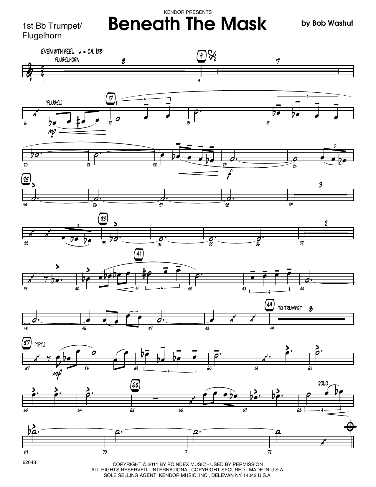 Beneath The Mask 1st Bb Trumpet At Stantons Sheet Music