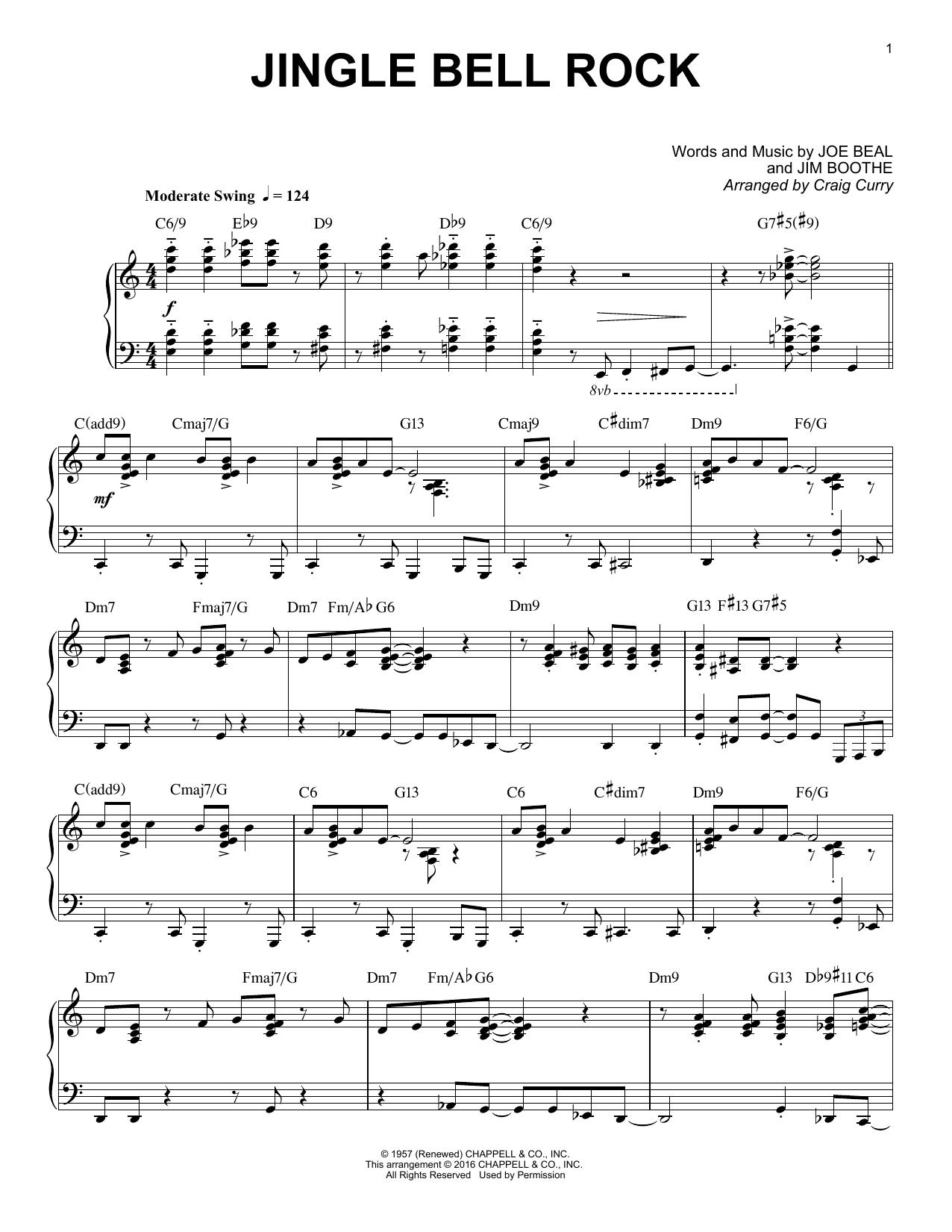Partition Piano Jingle Bell Rock De Craig Curry