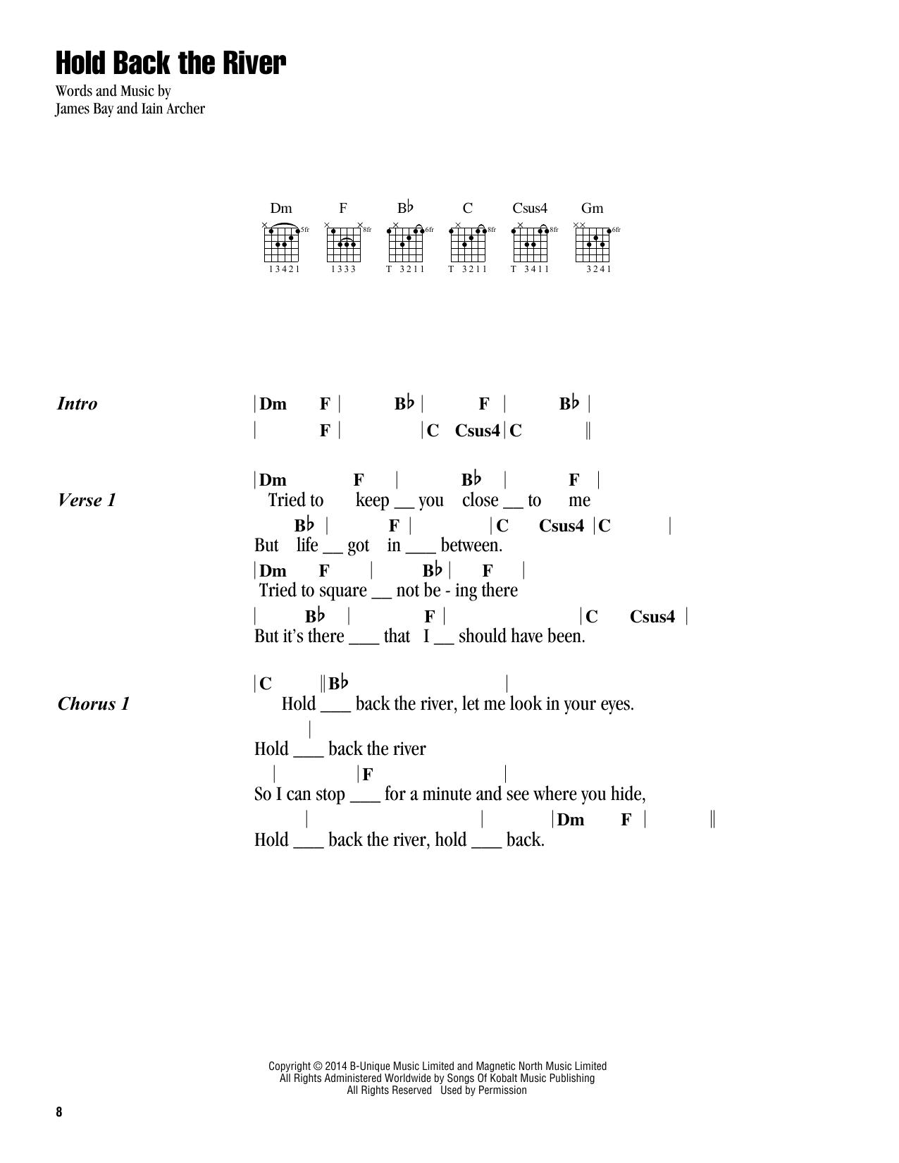 Chord Hold Back The River : chord, river, River, James, Guitar, Chords/Lyrics, Instructor