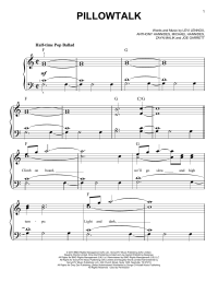Pillowtalk | Sheet Music Direct