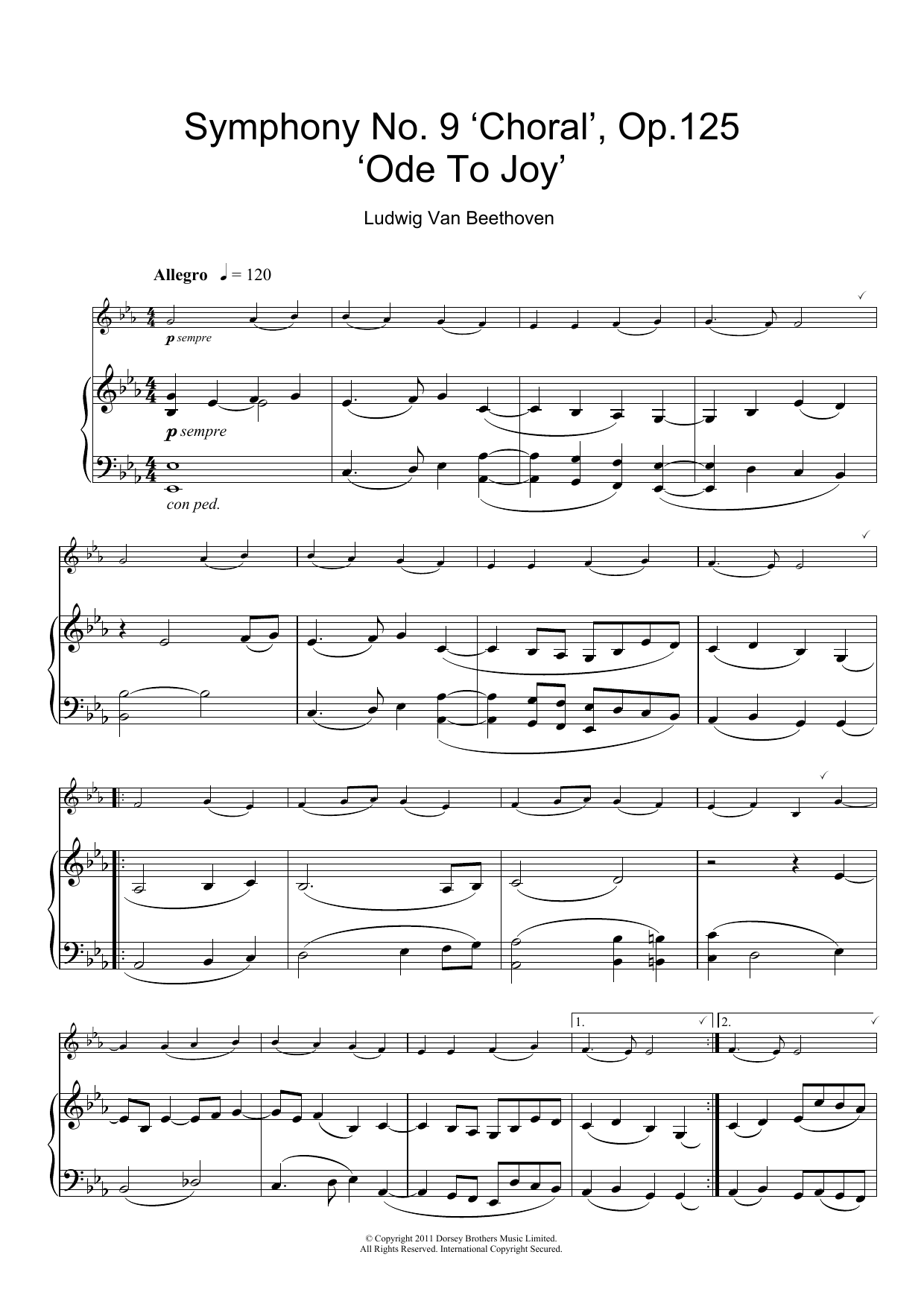 Ode To Joy From Symphony No 9 Fourth Movement