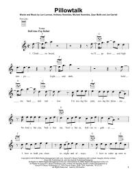 Pillowtalk Chords