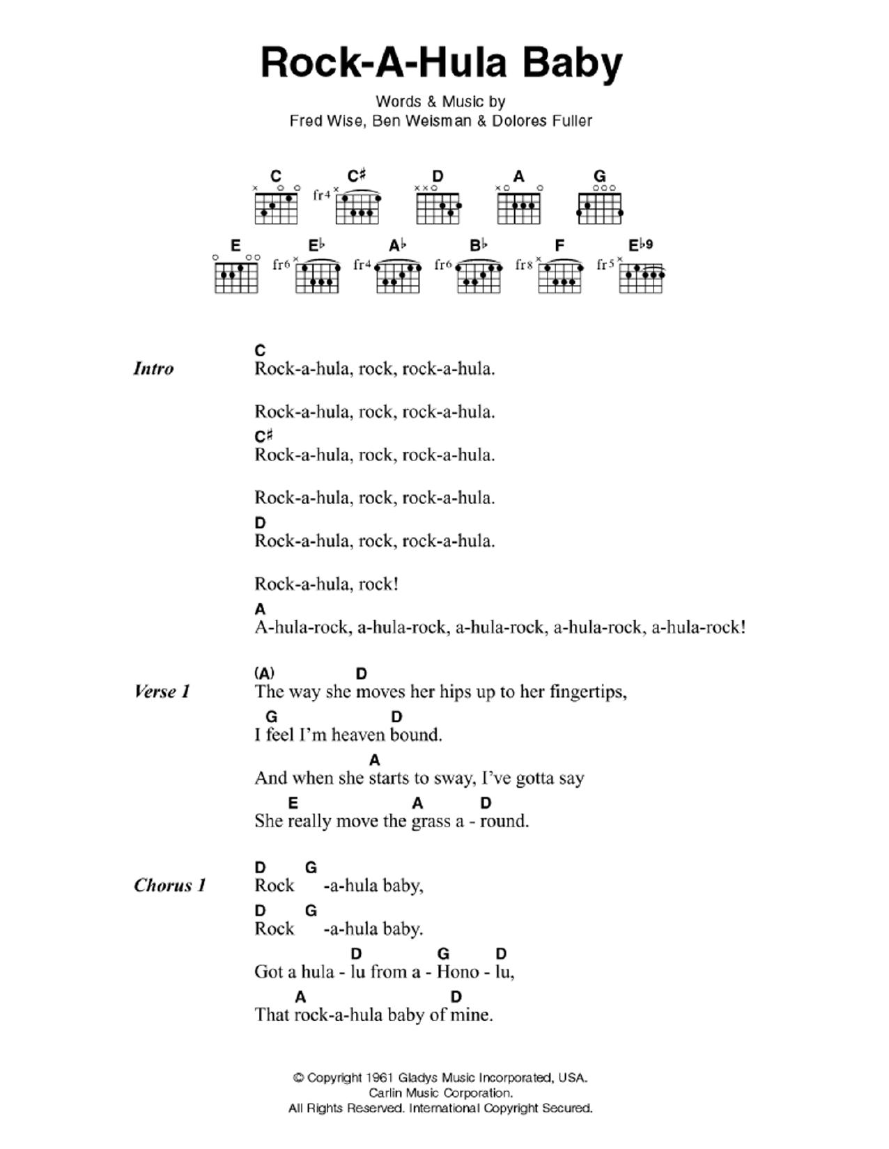 Drops Of Jupiter Uke Chords : drops, jupiter, chords, Rock-A-Hula, Elvis, Presley, Guitar, Chords/Lyrics, Instructor