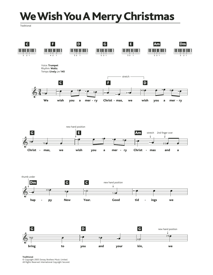 We Wish You A Merry Christmas Chords In C Christmaswalls