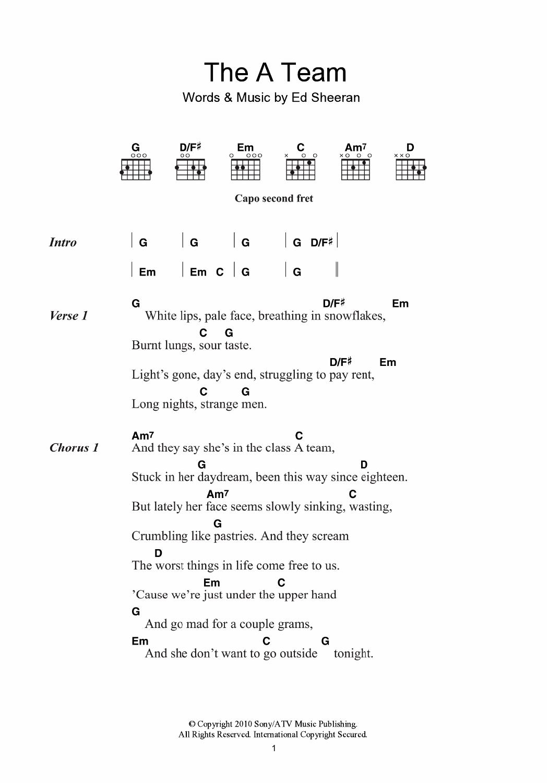 THE A TEAM CHORDS (ver 10) by Ed Sheeran @ Ultimate-Guitar.Com