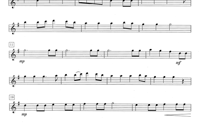 Simple Gifts 1st Flute Sheet Music Direct