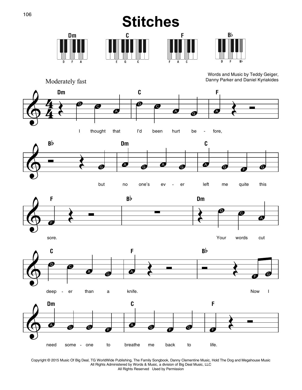 Stitches Sheet Music