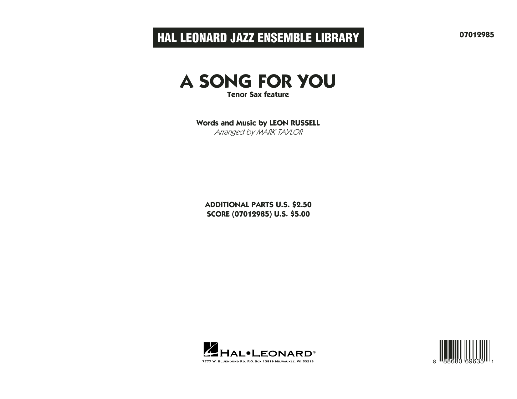 A Song for You (Tenor Sax Feature)