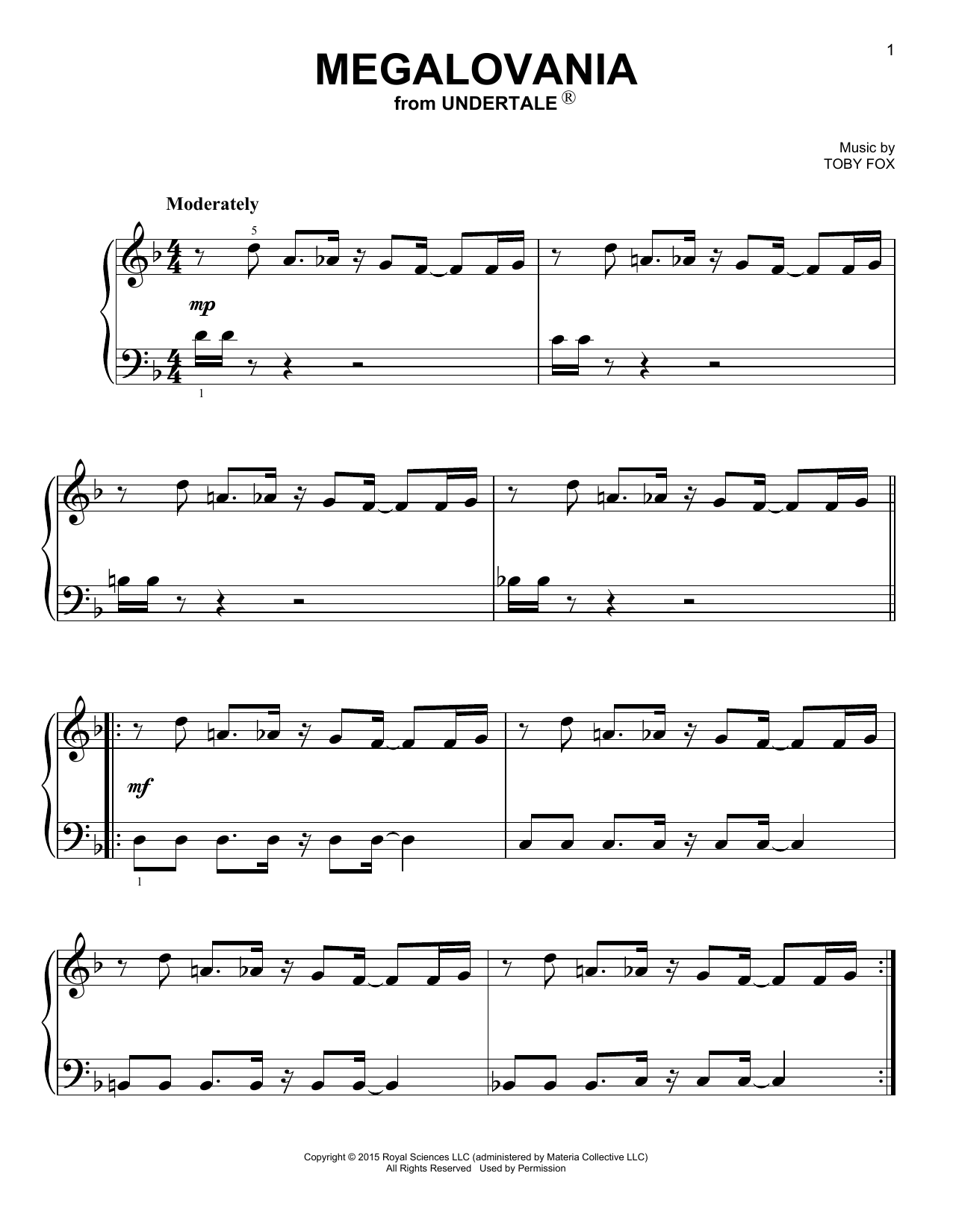 Megalovania Notes Piano : megalovania, notes, piano, Megalovania, (from, Undertale), Sheet, Music, Piano