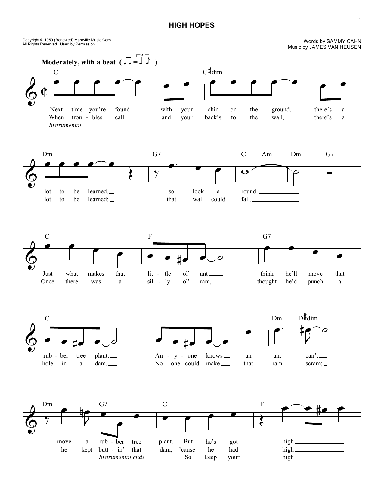 Sheet Music Let It Snow