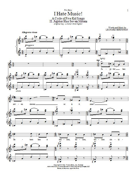 Jupiter Has Seven Moons Sheet Music Direct