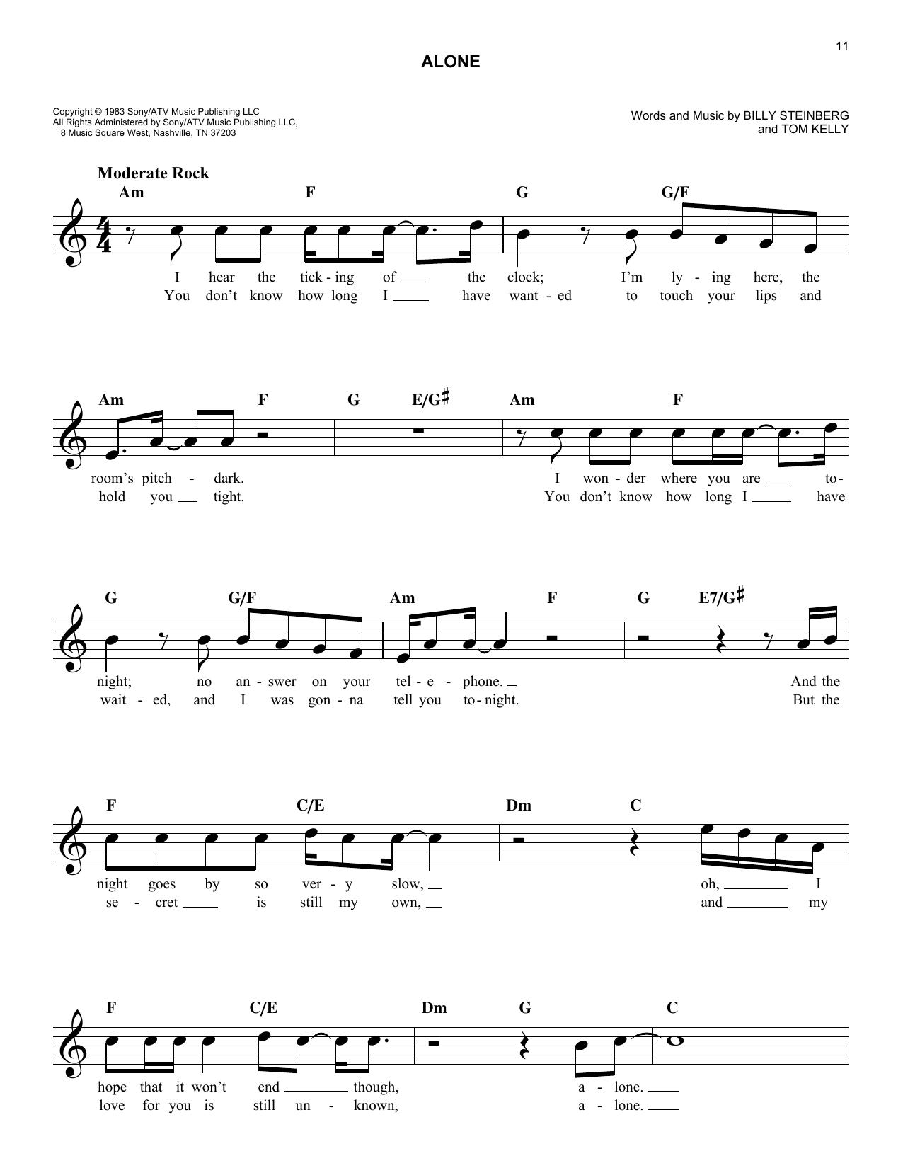 Sheet Music Heart Alone