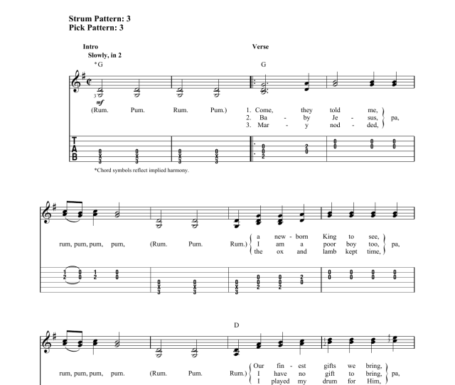 Christmas Guitar Easy Guitar Tab By Various