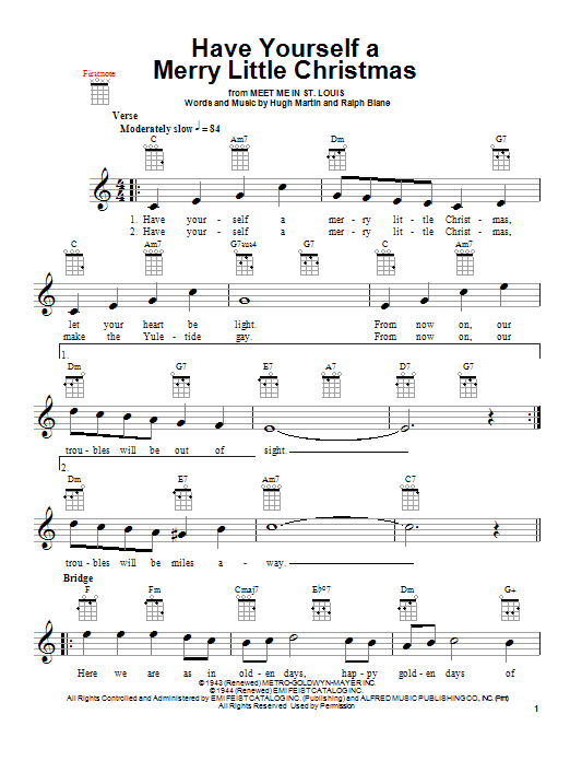 have yourself a merry little christmas jazz guitar chords ...